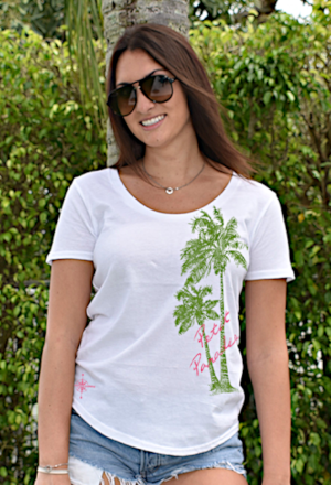 Women's Loose-Fit V-Neck Tees